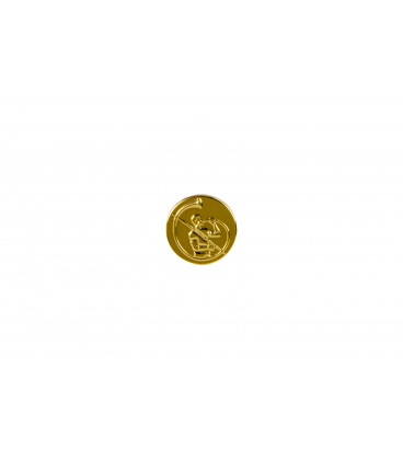 Gold Note Logo 18mm D 2mm thick Gold Plated