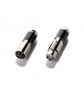 XLR cable connector - Male & Female rodhium (pair)
